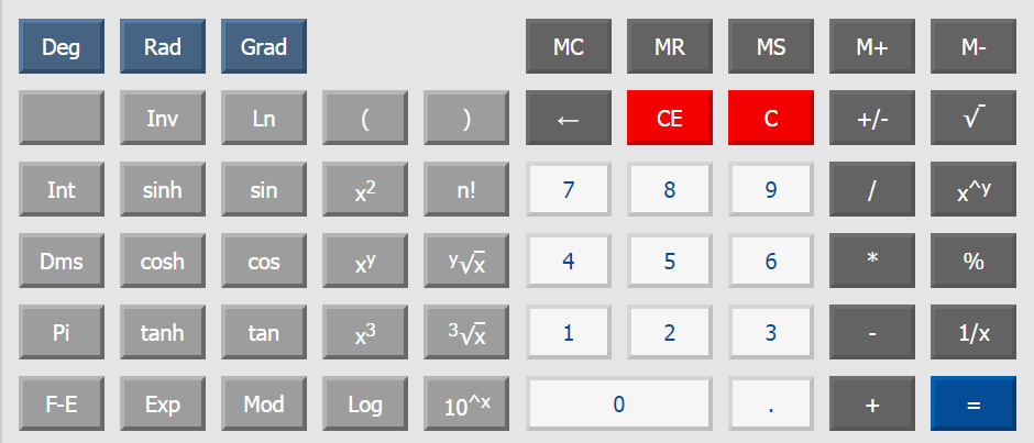 Scientific calculator online KALKPRO.RU